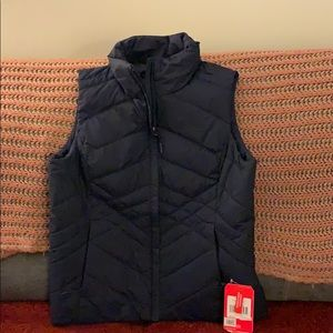 North face navy vest size medium
